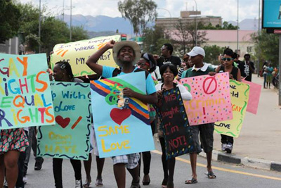 Saturday's LGBT Pride march in Namibia