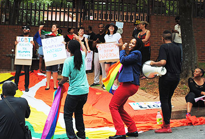 activists_protest_international_anti_gay_laws_indian_consulate_johannesburg