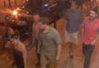 A still from CCTV footage of the alleged attackers