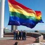 Look! Africa's biggest gay rainbow flag flies in PE