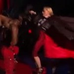 "Madonna ""fine"" after dramatic Brit Awards fall"