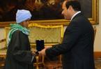 Sisa Abu Daooh is honoured by Egypt's president, Abdel Fatah al-Sisi