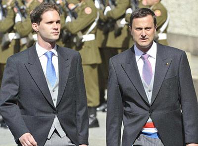 Prime Minister Xavier Bettel (right) married Gauthier Destenay on Friday