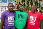 Lambda supporters wear t-shirts calling for the registration of their organisation (Pic: Lambda)