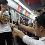 Watch: Beijing subway gay marriage proposal