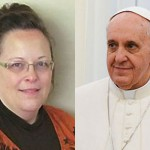 LGBT Catholics angry at Pope's secret meeting with Kim Davis