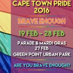 "Cape Town Pride Festival 2016 is ""brave enough"""