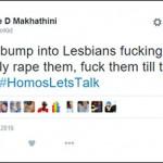 "Shock as KZN youth tweets: ""I'll definitely rape lesbians"""