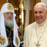 Pope joins Russian church head in condemning gay marriages and families