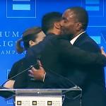 Jussie Smollett presents award to Lee Daniels who slams Donald Trump