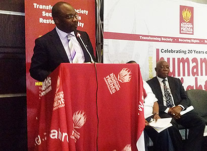 Minister Masutha at the opening of the seminar