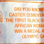 The big time! Caster Semenya appears inside the Chappies wrapper