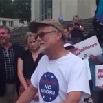 Watch: Christian homophobe laughs at gay man's grief