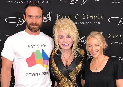 Sasse, Dolly Parton & Minogue launch the Say I Do Down Under campaign (Instagram)