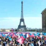 Tens of thousands demand repeal of same-sex marriage law in Paris