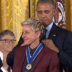 Ellen almost misses White House medal ceremony