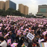 Massive rally for marriage equality in Taiwan's capital