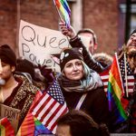 In pictures: Thousands of LGBTQ people protest against Trump outside Stonewall Inn