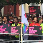 Londoners protest Chechnya's gay concentration camps