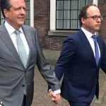 These male politicians held hands in support of gay couple attacked with a bolt cutter