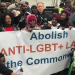 LGBT+ rights protest greets Queen at Commonwealth Day celebration