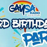 GaySA Radio celebrating 3rd birthday in aid of charity