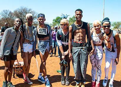 Some of the V.I.N.T.A.G.E dancers at Soweto Pride before Saturday's attack.
