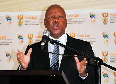 Minister of Justice and Constitutional Development, Jeff Radebe