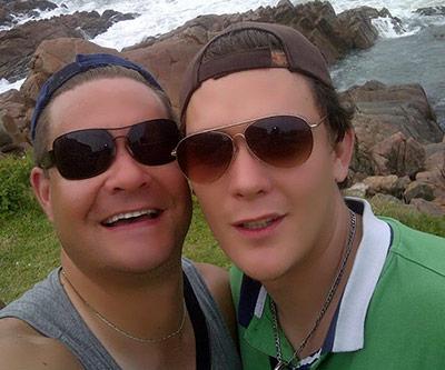 Allegedly refused service for being gay: Johann Viljoen and George van der Merwe.