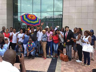 LEGABIBO members celebrate outside the court