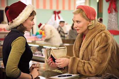 Rooney Mara and Cate Blanchett, in Carol