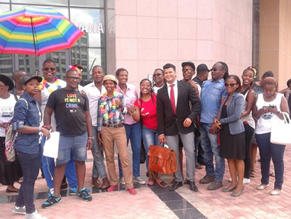 Victorious LEGABIBO members outside the High Court of Appeal