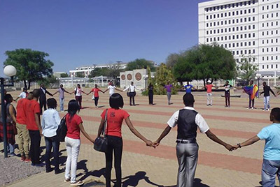 Members of LEGABIBO outside the Gaborone High Court (Pic: Facebook)