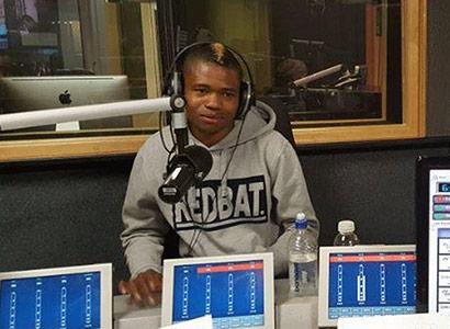 Lekoloane in the Metro FM studio
