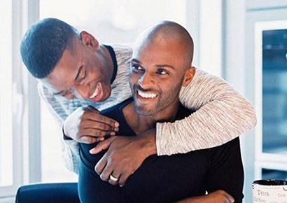Ebony hunks suck and fuck muscular gay ass