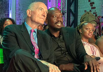 Edwin Cameron and partner Nhlanhla Mnisi