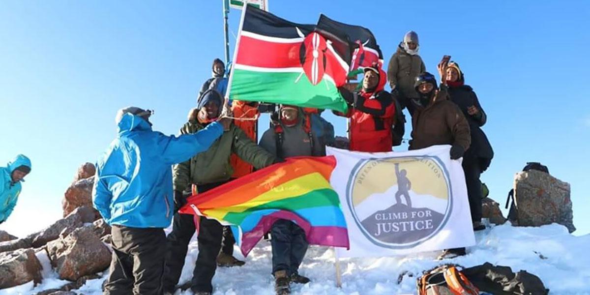 The rainbow flag raised by Defenders Coalition of Kenya