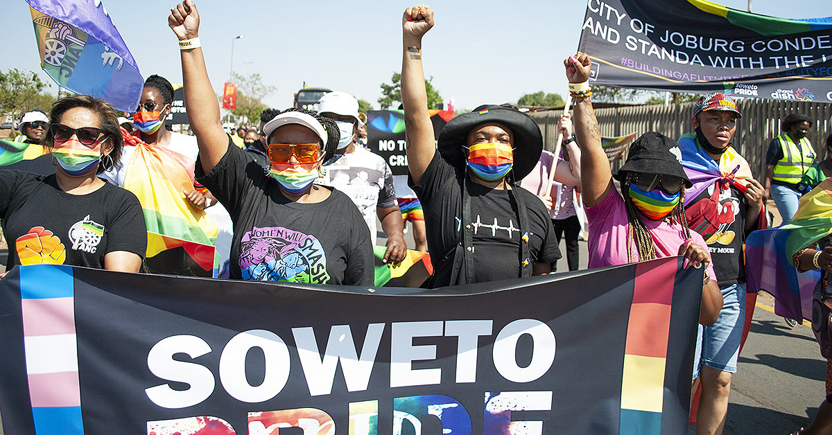 Soweto Pride 2021 marchers